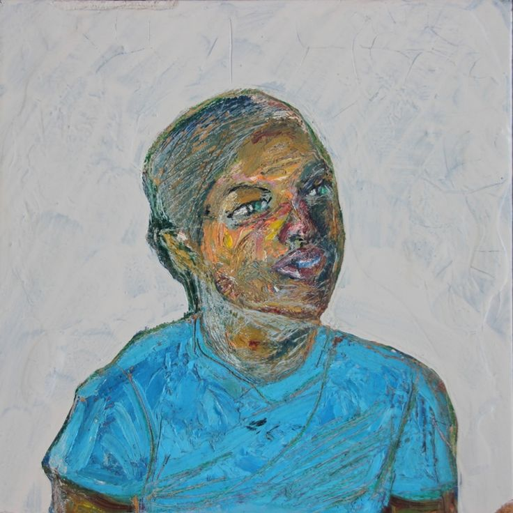 Self Portrait 2009 by Roscoe Reid Masters  Medium:Enamels and oils on wood  Dimensions: 18 x 18 cm (L x W)