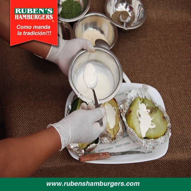roceso de preparación de uno de nuestros platos más solicitados. #Menú #RubensHamburgers