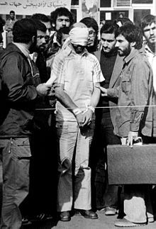 The Iran hostage crisis was a diplomatic crisis between Iran and the United States in which 52 Americans were held hostage for 444 days from November 4, 1979, to January 20, 1981, after a group of Islamist students and militants took over the American Embassy in Tehran in support of the Iranian Revolution