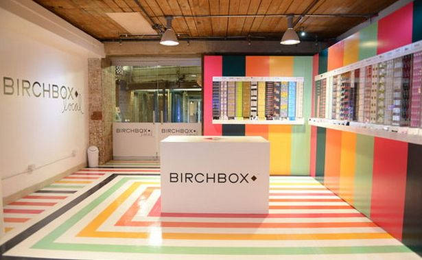 #Birchbox pop-up shop in Chelsea Market, NYC