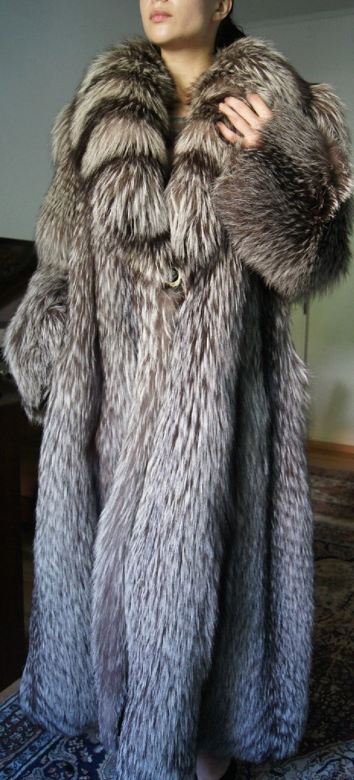 SALE XXXL Pelzmantel Pelzjacke Silberfuchs Fuchsmantel Fuchsjacke fur coat шуба   eBay