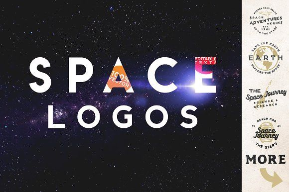 Space Vintage Logos by Roman Paslavskiy on @creativemarket