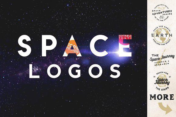 Space Vintage Logos by Roman Paslavskiy on @creativemarket