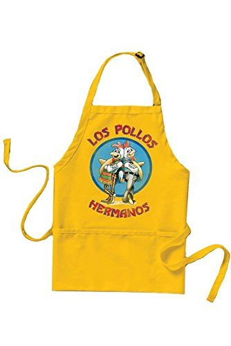 Breaking Bad Los Pollos Hermanos Logo Yellow Costume Cooking Apron @ niftywarehouse.com #NiftyWarehouse #BreakingBad #AMC #Show #TV #Shows #Gifts #Merchandise #WalterWhite
