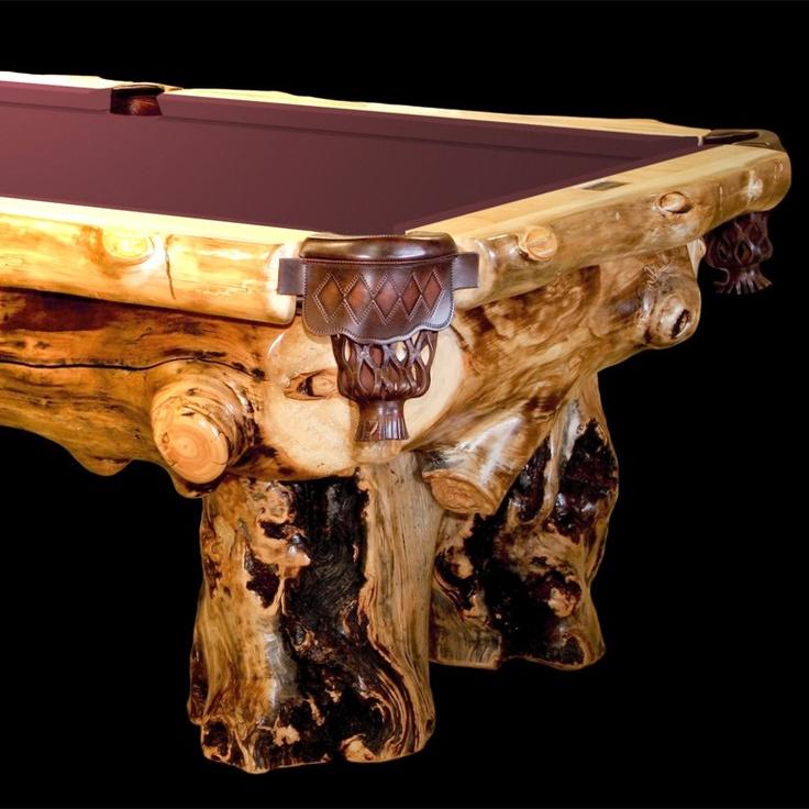 Aspen lodge rustic pool table jhe 39 s log furniture place for Aspen logs for decoration