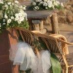 decorazione sedie matrimonio tulle bianco