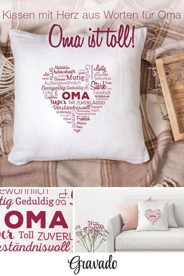 Bedrucktes Kissen - Wortwolke für Oma | OMA | Geschenke für ...