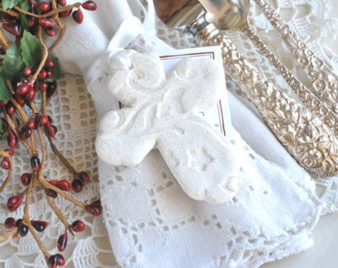 Beautiful Imprinted Salt Dough Cross Favors for Communion / Baptism / Etsy :: Your place to buy and sell all things handmade