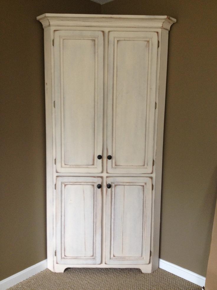 Antique White Corner Cabinet Love Corner Cabinets Pinterest White Corner Cabinet