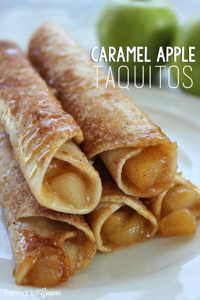 Caramel Apple Taquitos - These are delicious and super easy to make!!