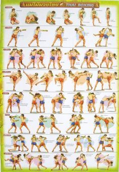 Muay thai moves (training poster) |Ambitiously Fit