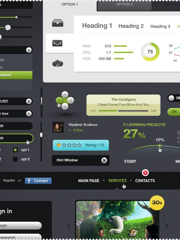 Futurico – User Interface Elements Pack
