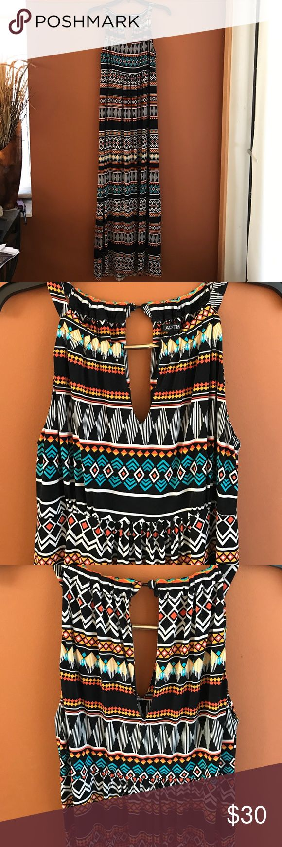 Tribal Maxi dress Apt 9 Maxi dress. In great condition! Apt. 9 Dresses Maxi