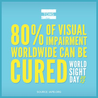 Today is World Sight Day. When's the last time you had your eyes checked? Take care of your eyes! Through them, you see the world! Also, register to be an eye, organ, and tissue donor at www.donatelifenw.org!