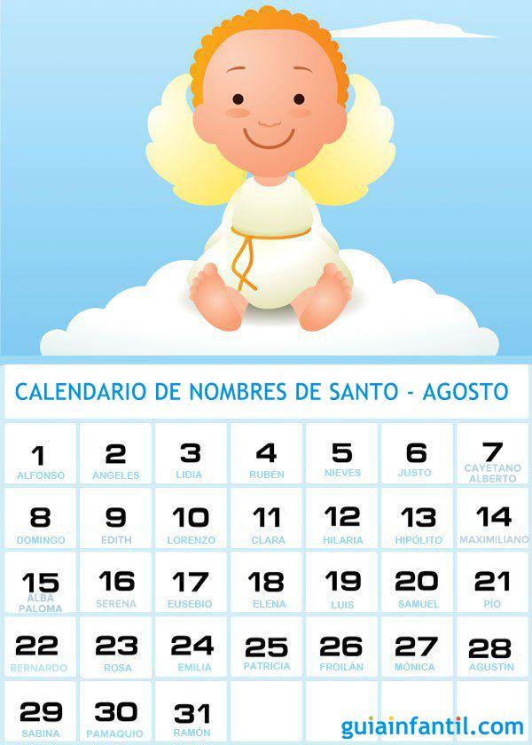 Nombres De Santos De Agosto Para Los Bebés Nombres Calendario De Santos Nombres Cristianos