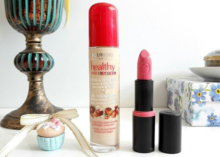Bourjois Healthy Mix Serum Foundation and Essence Long lasting Lipstick in Love Me