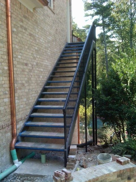 Best Exterior Metal Staircase Copper Spouting Looking Good Too 640 x 480