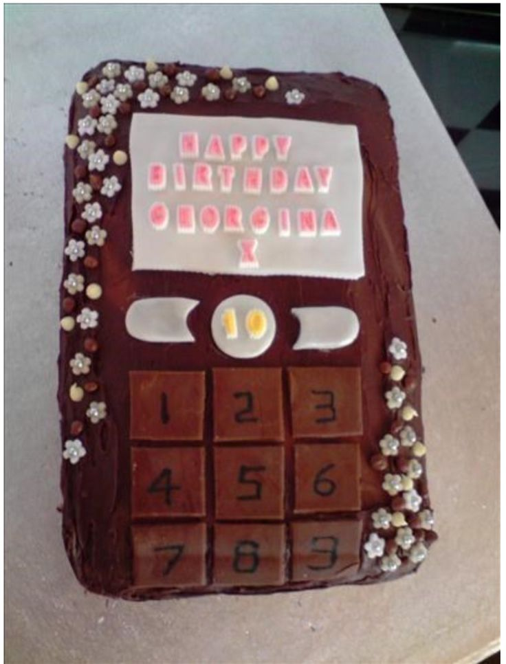 Mobile Phone Choc Cake!