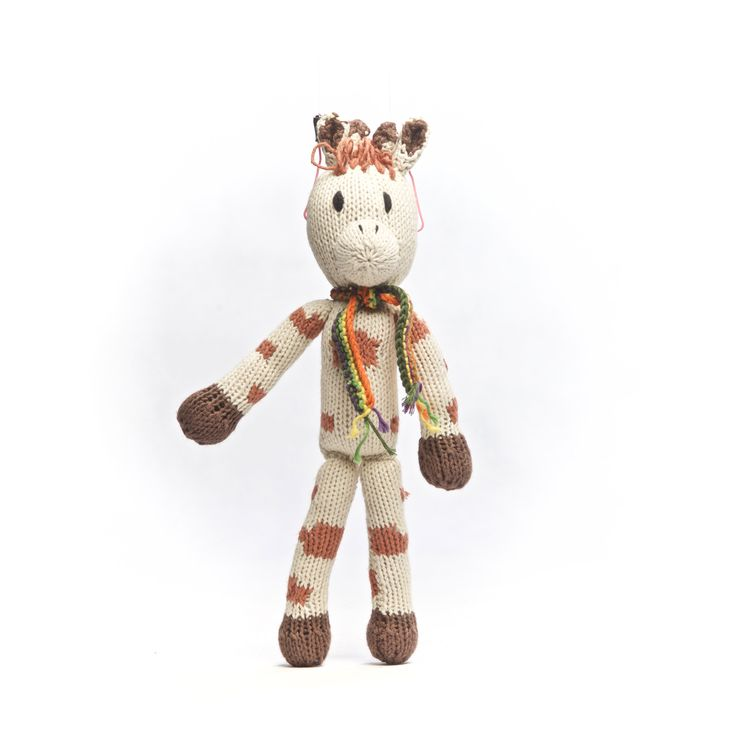 Organic cotton giraffe! Hand knitted by the Kenana Knitters in Kenya. Distributed by Kenana Down Under.