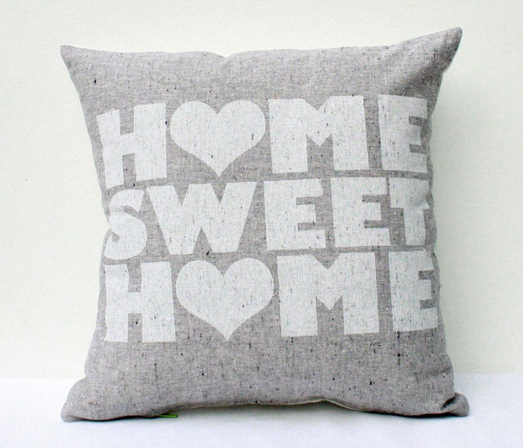 Home Sweet Home screen printed housewarming by EarthCadets
