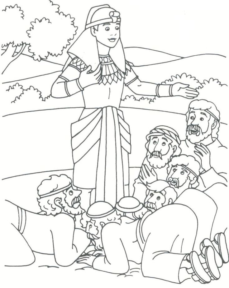 joseph bible coloring pages joseph reveils his identity to his brothers and