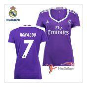 Le Nouveau Flocage Maillot FC Real Madrid Femme (Ronaldo 7) Exterieur 2016 2017
