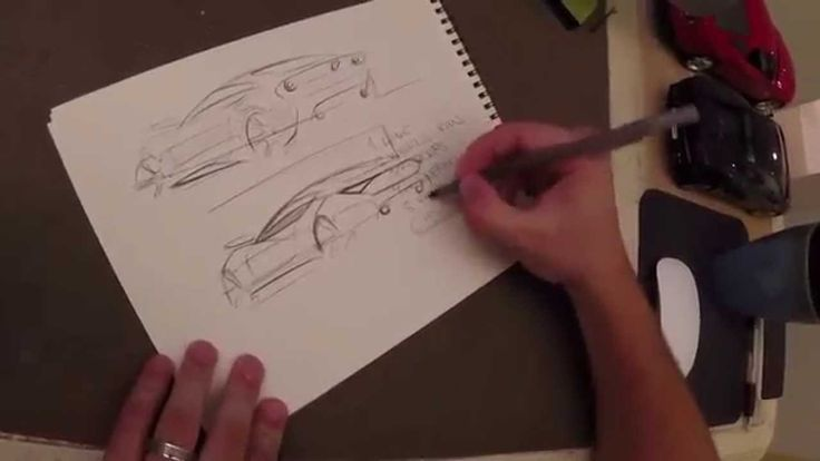Easy Car Sketching - 6 steps