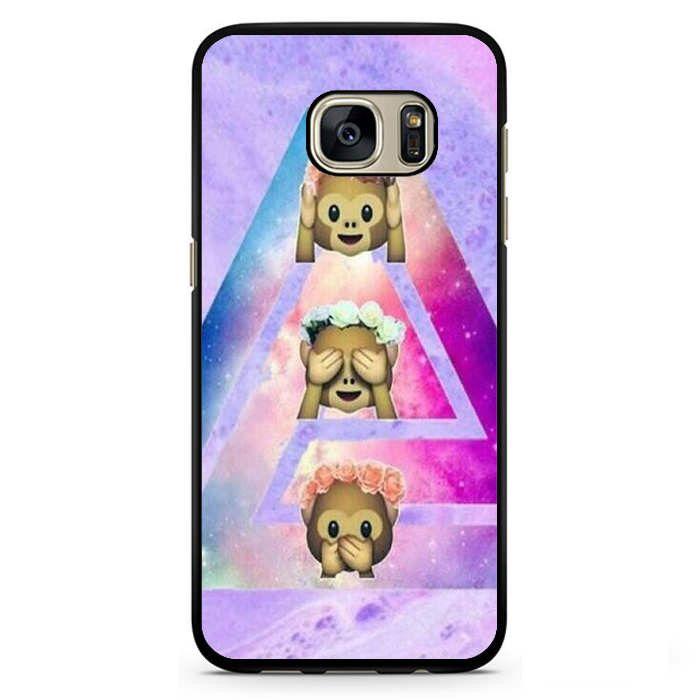 Phone case Emoji monkey Tie Dye Samsung Phonecase For Samsung Galaxy S3 Samsung Galaxy S4 Samsung Galaxy S5 Samsung Galaxy S6 Samsung Galaxy S7