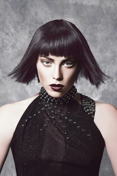 X-FILES  The #bob is a #chanel inspired look on a #grungier level.  A disconnected textured look for a short #textured #fringe is a big look for the upcoming seasons.  Cut without guidelines this look has a great texture while breaking all the rules. #Iwantthathair www.houseofernest.com.au