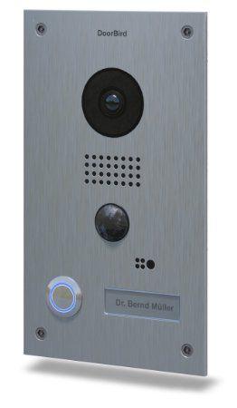 DoorBird WiFi Video Doorbell D202, Stainless Steel, Flush Edition