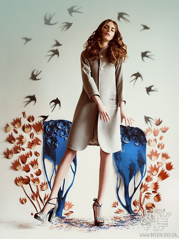 The First Swallow by Victoria Bolkina Fashion editorial for Harper's Bazaar
