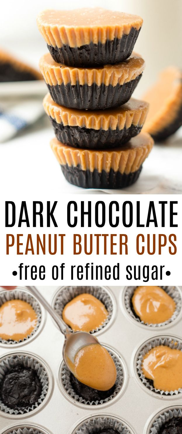 Healthy dark chocolate peanut butter cups with no …