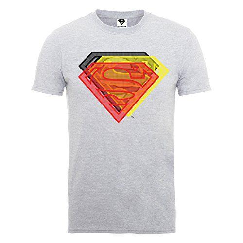 DC Comics SMAO0001 - Camiseta de manga corta para hombre, color grau - grau (grey marl), talla Small #camiseta #starwars #marvel #gift