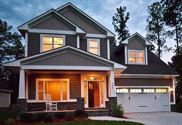Plan W6903AM: Craftsman, Northwest, Photo Gallery, Narrow Lot House Plans & Home Designs