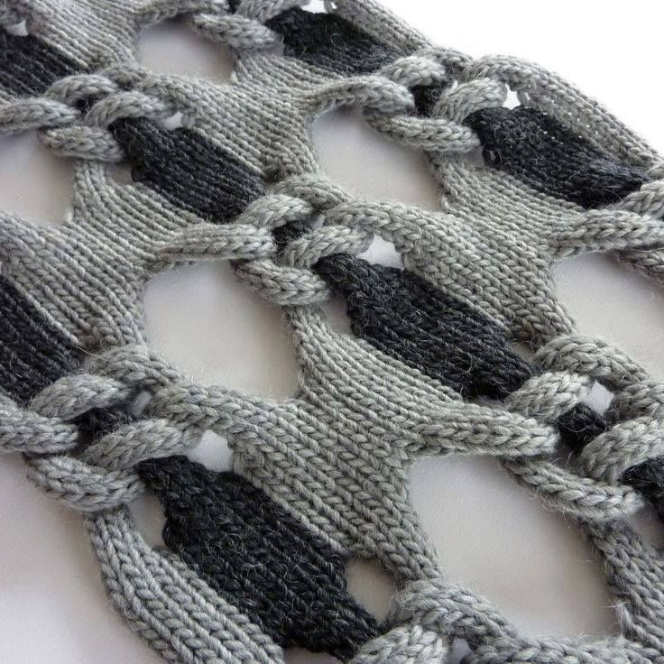 Would love to try and replicate this with to colorways of variegated yarns. No pattern, but I think I could figure out how to do this.