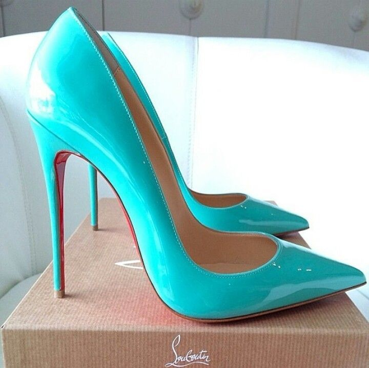 Turquoise Louboutin #ShoeBoutique #Wicksteads Want these they are Stunning