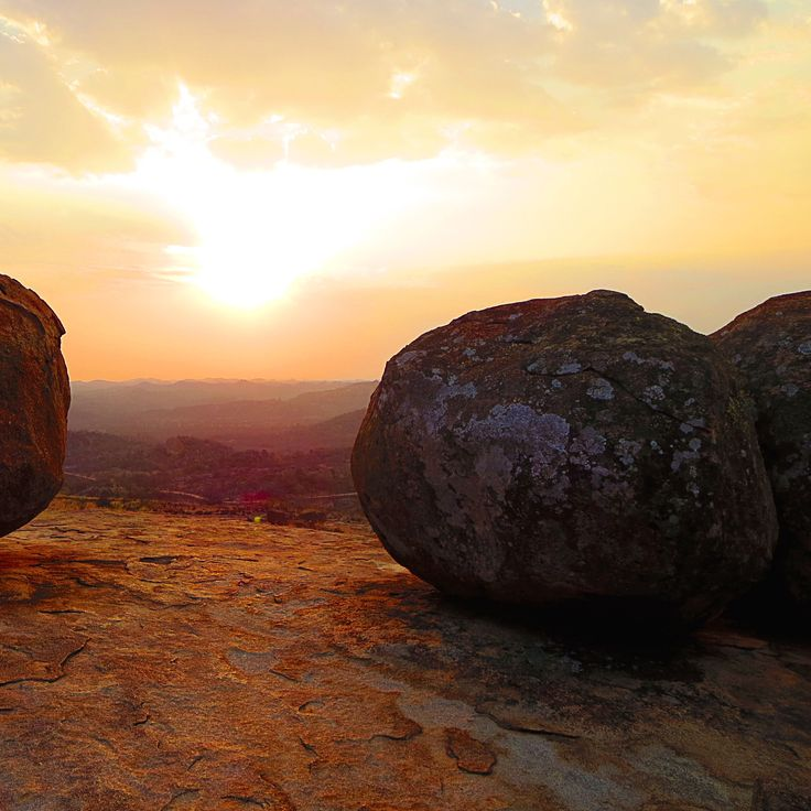 The sunsets in Africa are truly magnificent. Standing atop the Matobo Hills in Zimbabwe.  #Zimbabwe #Africa #travel #explorer #adventure #nature #v_unleashed #humanitarian #animalrights www.virginiastone.com