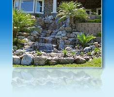 9 best water features spillways images on pinterest for Pond waterfall spillway ideas