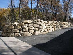 30 best images about engineered rock walls block walls for Landscaping rocks tooele utah