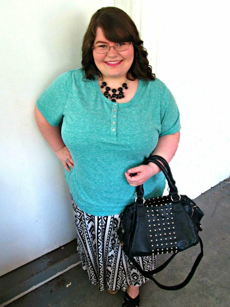 Unique Geek: plus Size OOTD: Summer Aztec #aztec #modestoutfit #plussizeoutfit #plussizefashion #plussizefashionblogger #maxiskirt
