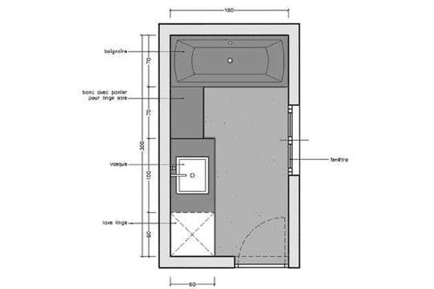 Rectangulaire Plan Salle De Bain Salle De Bain 6m2 Plans