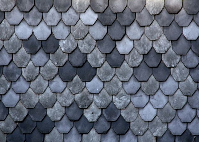 Scales Blues And Grey Roof Shingles Dollhouse