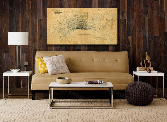Old Map of Nashville Tennessee 1860 restoration hardware style Vintage Nashville Map Old Nashville map WALL Map Poster Home Decor Street Map