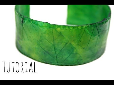 Translucent Polymer Clay Autumn Leaves Natural Bangle/Bracelet Tutorial DIY | Velvetorium - YouTube