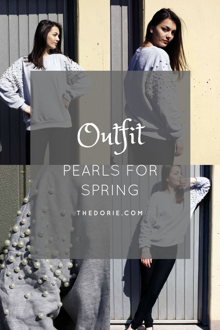 Mein neuer #Lieblingspulli. Mehr hier: https://thedorie.com/2017/04/08/outfit-spring-pearls/