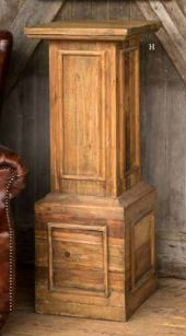 architectural wood pedestal, partypleasersblog@wordpress.com, instagram-partypleasers