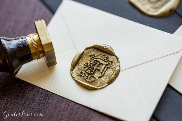 J Herbin Illuminated Letter Brass Seals For Sealing Wax