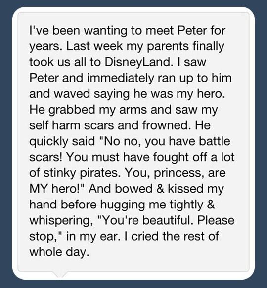 And this is why I adore the Disneyland Peter Pans. I hope to become a Face Character, and when I do, I will hang out with Peter all day.