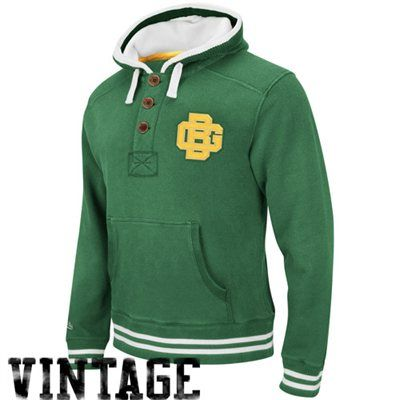 Mitchell & Ness Green Bay Packers Vintage Primary Logo Pullover Hoodie Sweatshirt - Green