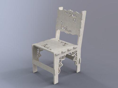 Mesa e Cadeira Projeto Router Cnc Projeto para máquinas de corte laser e router cnc Quebra Cabeça 3D Puzzle3D cnc laser cnc router